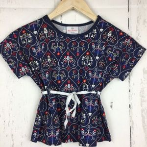Hanna Andersson Girls 110 US 5 Top Hearts Floral
